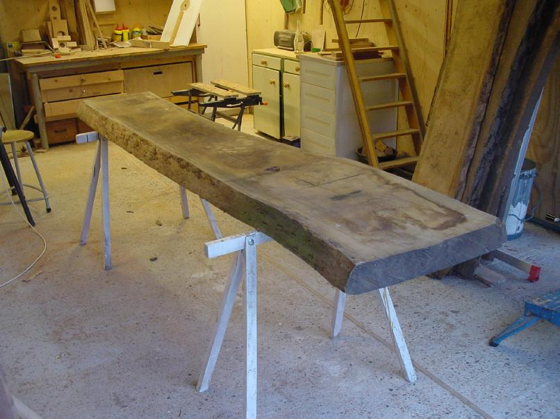 Beeldverslag tafel 250×90 voor Jan Leo en Mirjam   ontwerp en zagen