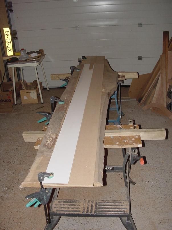 Beeldverslag tafel 250x90 voor jan leo en mirjam ontwerp en zagen - Planklengte van het kind ...