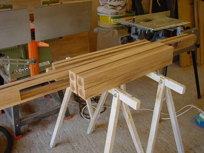 Tafel Onderstel Maken : Maken van het frame van de tafel