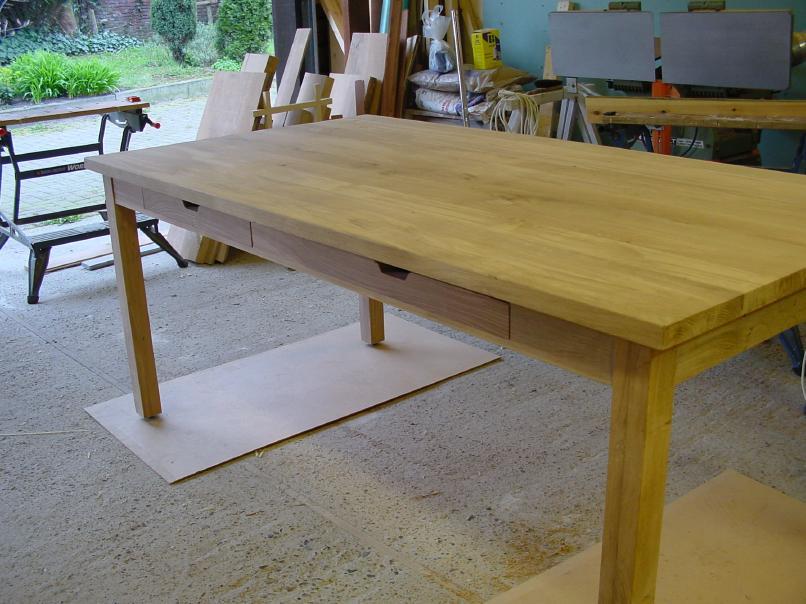 Maken van de lades van de tafel