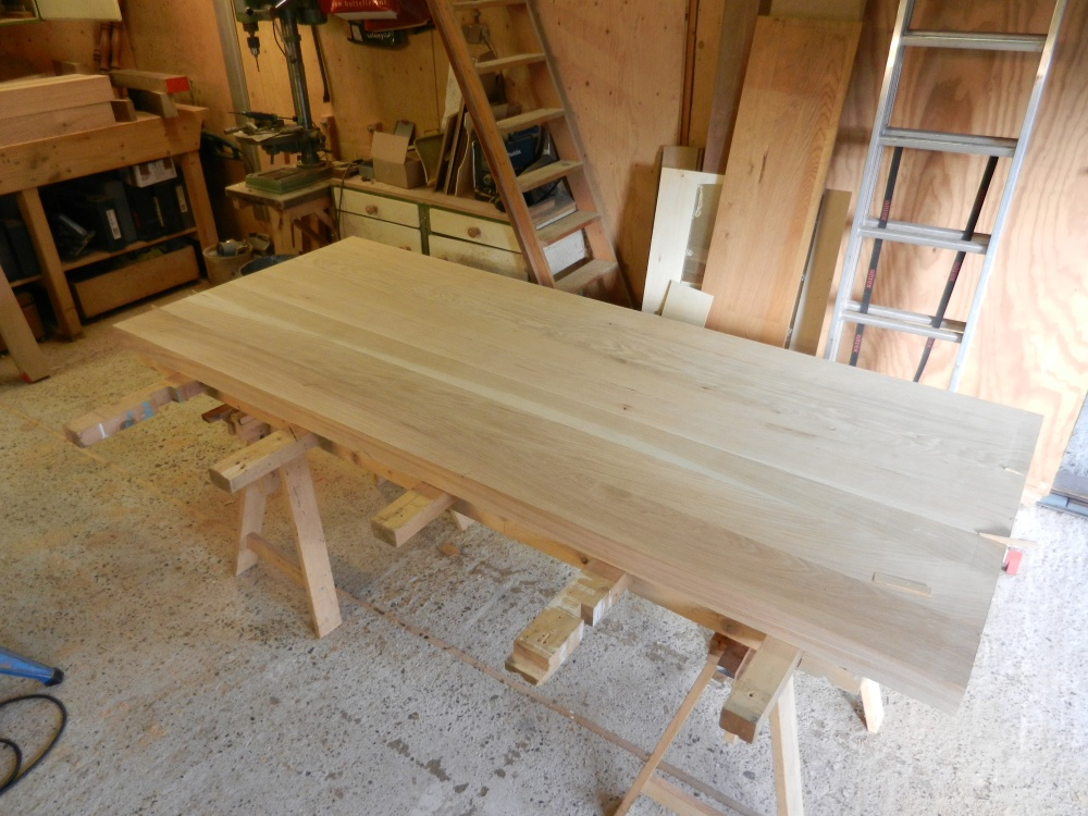 Beeldverslag van het maken van een eiken tafel voor tina en jasper - Tafel een italien kribbe ontwerp ...